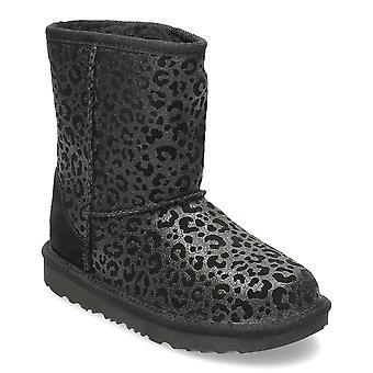 UGG Classic II Glitter Leopard 1112388KBLK universal winter kids shoes