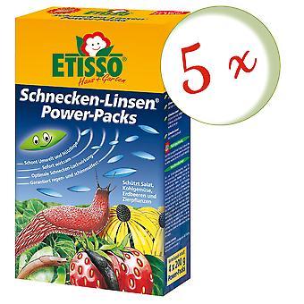Sparset: 5 x FRUNOL DELICIA® Etisso® Schnecken-Linsen Power-Pack, 4 x 200 g