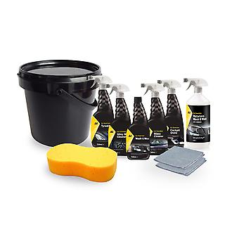 AA Car Cleaning kit 10 in 1 with Jumbo Sponge, 2 Microfibres and 10L Bucket