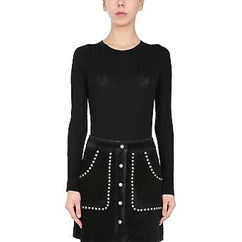 Iro Wp12dhanabla0121s Women's Black Silk Sweater