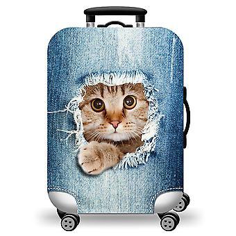 Couverture mignonne de chat de valise