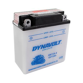 Dynavolt 6N11A4 Conventional Dry Charge Battery With Acid Pack