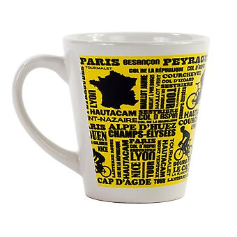Ceramic Latte Mugs - French Tour