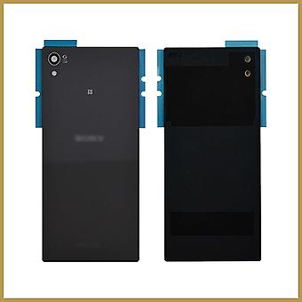 Til Sony Xperia Z5 udskiftning batteri bagdørsdæksel bagglas med klæbemiddel - sort