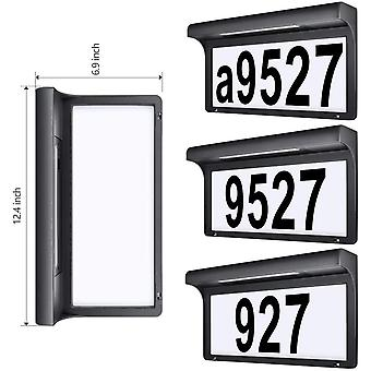 LeiDrail Solar House Number Plaques Illuminated Door Numbers Signs Modern Custom Sign Address Name