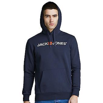 Jack & Jones Mens Jjecorp Oude Logo Zachte Warme Grafische Hoodie