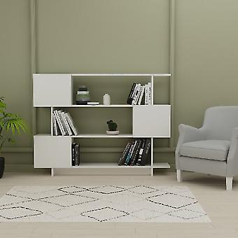 Libreria Box Colore Bianco in Truciolare Melaminico, L150xP23,8xA113,2 cm