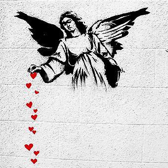 Inspiracións de pintura Autor Bansky Multicolored Angel en madera, algodón, L60xP60xA3 cm