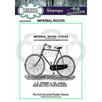 Expressões Criativas Andy Skinner Imperial Rover 3.9 em x 3.9 em Selo de Borracha