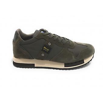 Shoes Blauer Sneaker Running Mod. Queens In Suede/ Dark Brown Fabric Men U21bu01