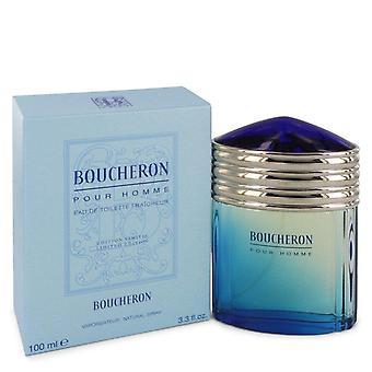 Boucheron Eau De Toilette Fraicheur Spray (edición limitada) por Boucheron 3.4 oz Eau De Toilette vaporizador Fraicheur