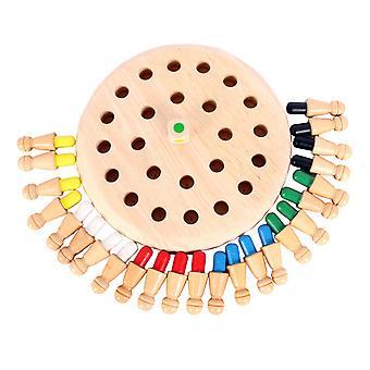 Drewniana gra w szachy pamięci, zabawna gra planszowa, mecz pamięci Stick Chess Game Parent-child toy