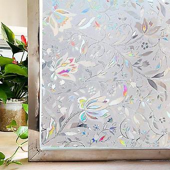 Gebeizt Privatsphäre Fenster Film, statisch, selbstklebende Glasaufkleber, Regenbogen