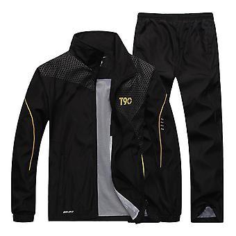 Miehet Urheilu Löysä Verryttelypuvut, Kevät & Syksy Fitness Running Suit Set