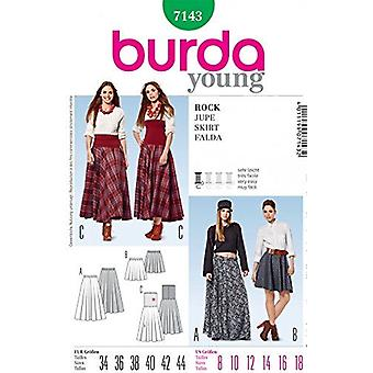 Burda Ladies Young Fashion Easy Couture Pattern 7143 - Tailles jupes: 8-18