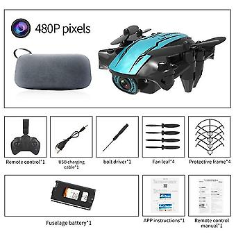 Cs02 mini wifi fpv hd camera altitude hold mode foldable rc drone quadcopter toy airplane remote control drone children kids toy