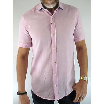 Pink Marl Short-Sleeved Shirt