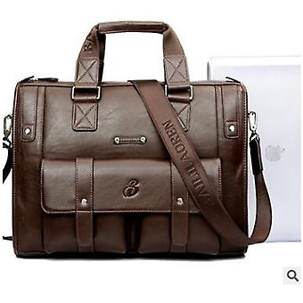 Ny lyx ko äkta läder företag män & portfölj manlig axelväska riktiga läder män messenger väska resa datorväska