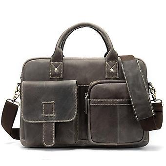 Men's Briefcase Bag, Genuine Leather Laptop Bag For Office