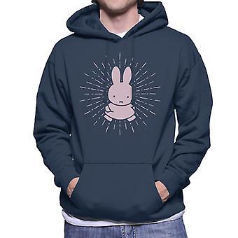 Nijntje Pink Bunny Men's Sweatshirt met capuchon