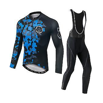 YANGFAN Мужская Велоспорт Джерси Установить длинный рукав велосипед Outwear Спортивные штаны
