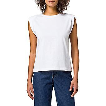 Springfield Camiseta Hombreras T-Shirt, White, XS Women