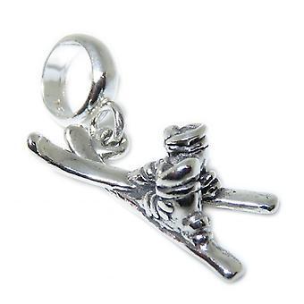 Skiis Sterling Silber Perlen charm .925 X 1 Europäische Ski Charms - 15371