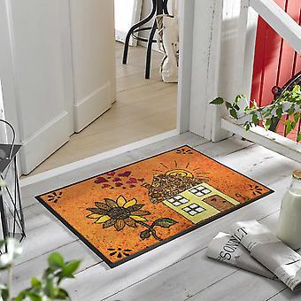 Sonnenhaus Washable Floor Mats In Orange Multi