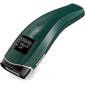Lumiere Pulsee 999 900 Flash Depilator z 10 poziomów dla ciała, twarzy i nóg Depilacja laserowa, zielony