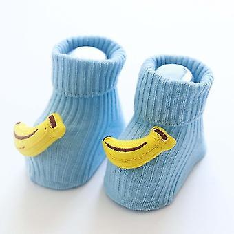 Cartoon Fruit Design Anti Slip Cotton Socks