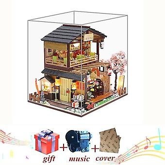 Diy wooden house japan style miniature doll house kits mini dollhouse  with furniture precised design dollhouse for decoration t