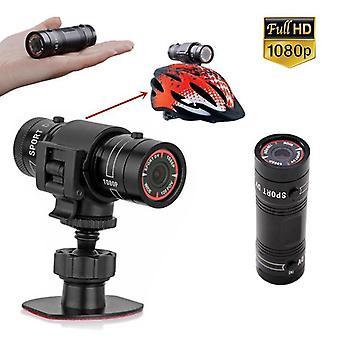 Sport dv câmera 1080p impermeável hd mini metal capacete ao ar livre câmera moto capacete câmera de ação câmera vídeo dv filmadora