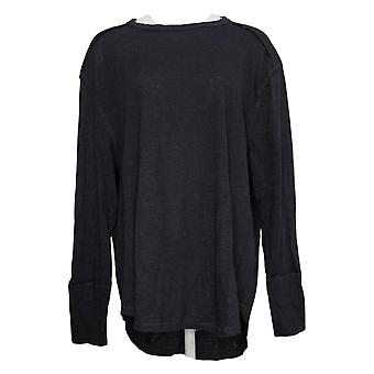 All Worthy Hunter McGrady Women's Top Long Sleeve Relaxed Black A384588