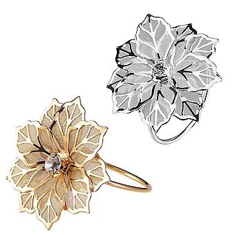 Napkin Rings With Hollow Out Flower