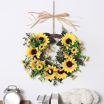 35CM Hängende künstliche Tür Sonnenblumen Girlande