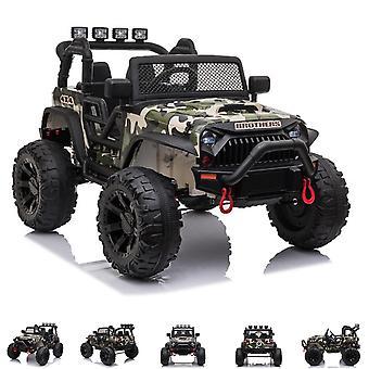 ES-Toys Kids Electric Car Offroad, Lädersäte, EVA Däck, Servostyrning, MP3