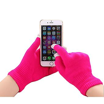 Gionee M6 Mirror (Rosa Quente) Unissex One Size Winter Touchscreen Gloves For All Smartphones / Tablets