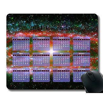 (300x250X3) Kalendář 2021 Rok Podložka pod myš, Závoj mlhovina Hvězdokupa Hvězdná Dust Cosmos Vesmírná podložka pod myš