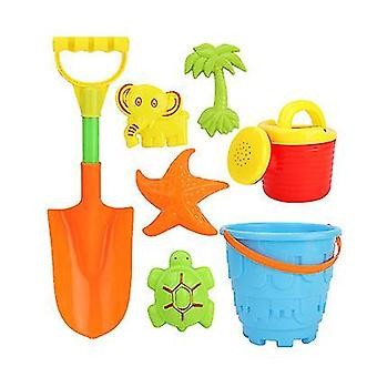 Double Sand Wheel Beach Toy Set For Kids With Bucket,shovels, Rakes(GROUP6)