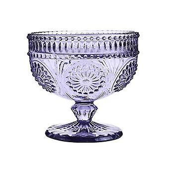 Ice Cream Bowl Cup Okulary Retro Picie 300ml Wedding Party Deser Bowls (Fioletowy)