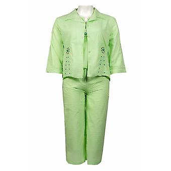 Pants Set With Embroidered Pattern Jacket
