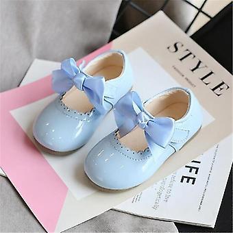 Παιδικά δερμάτινα παπούτσια, παπιγιόν πριγκήπισσα κόμμα χορό παπούτσια