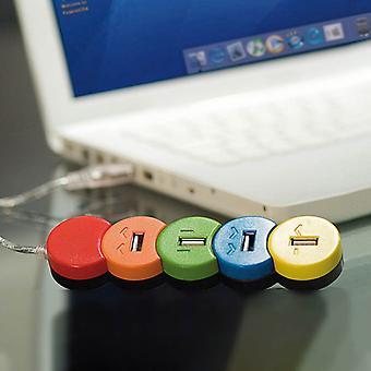 Flerfarvet 4-port USB-hub 149523