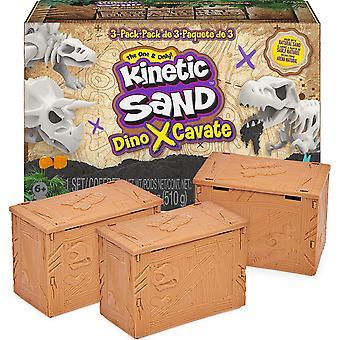 קינטי חול דינו דיסקברי 3-Pack