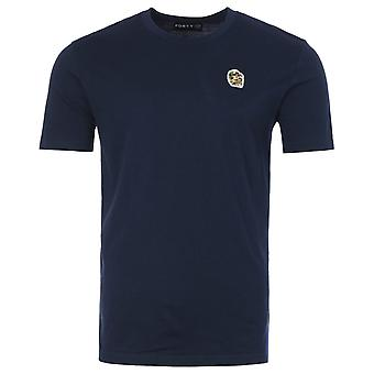 Forty Ben Camo Badge Organic Cotton T-Shirt - Navy