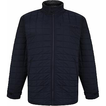 ESPIONAGE Espionage Mens Big Size Square Quilted Casual Zip Front Jacket