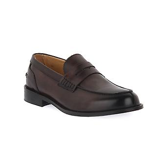 Exton calf chestnut shoes