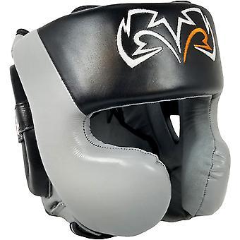 Rival boxning RHG30 mexikansk stil kinden Protector utbildning huvudbonader - svart/grå