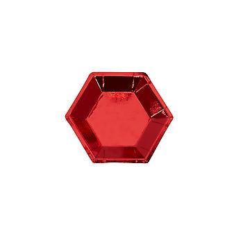 Pieni kuusikulmainen levy - Punainen folio