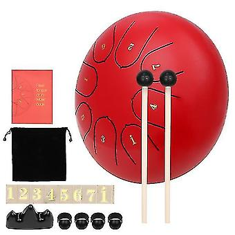 Drum kits muslady 8 notes c-key 6-inch mini steel tongue drum hand pan drum percussion instrument with